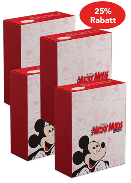 FAN-BOX Micky Maus 4er Set