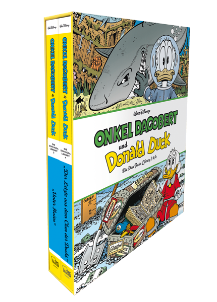 Onkel Dagobert und Donald Duck - Don Rosa Library Schuber 2 - Band 3+4